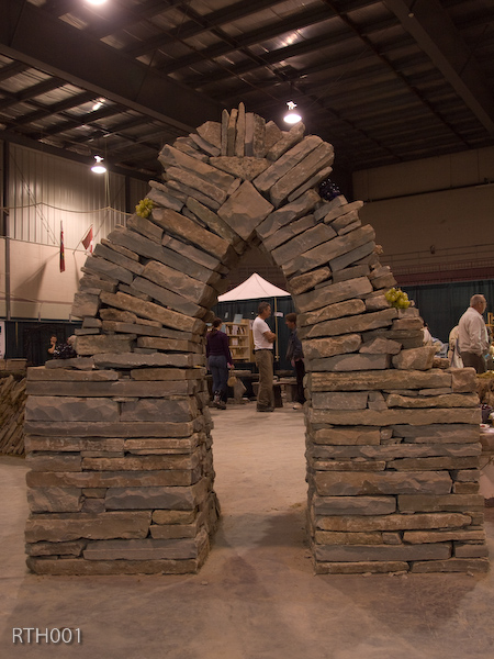 Oh Yeah, and we built an arch and rebuilt it several times during the show too!