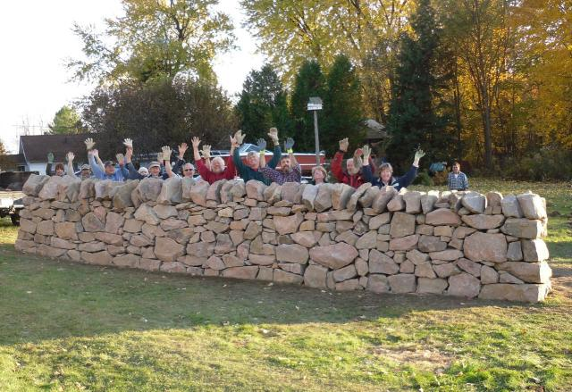 Happy Walling Students in Rockport Ontario 2009