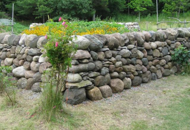 Garden Stone Wall Building The Gardening